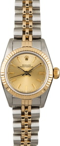 Rolex Oyster Perpetual 67193 Champagne Index Dial