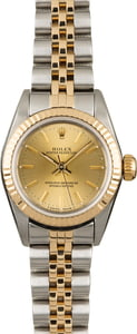 Used Rolex Oyster Perpetual 67193 Champagne Index Dial