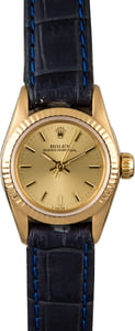 Ladies Rolex Oyster Perpetual 67198 Blue