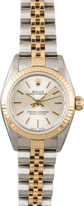 Used Ladies Rolex Oyster Perpetual 76193 Silver Dial