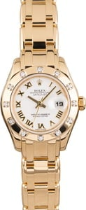 Pre Owned Rolex Lady Pearlmaster 80318 Diamond Bezel