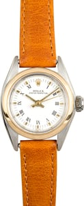 Pre-Owned Ladies Rolex Date 6916 White Roman