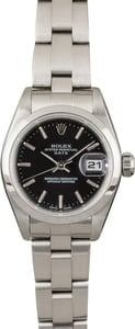 Rolex Ladies Date 79160 Steel Oyster with Black Dial