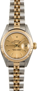 PreOwned Rolex Datejust 79173 Champagne Dial Jubilee Band