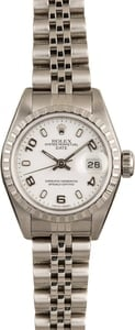 Pre-Owned Rolex Ladies Date 79240 White Arabic Dial