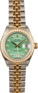 Used Two Tone Jubilee Rolex Datejust 279383 Diamond Dial and Bezel