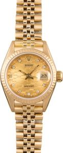 Pre Owned Rolex Ladies Datejust 69178 Chevy Diamond Dial
