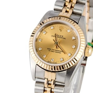 Ladies Diamond Rolex Oyster Perpetual