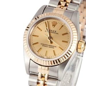 Rolex Ladies Oyster Perpetual 67193 Champagne