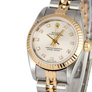 Ladies Rolex Oyster Perpetual 76193 Diamond Dial