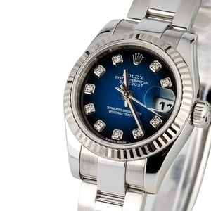 Ladies Rolex Datejust 179174 Blue Diamond Dial
