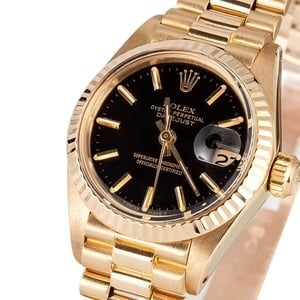 Lady Rolex Datejust 6917 Black Dial