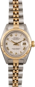 Pre Owned Datejust Ladies Rolex 69173 Ivory Pyramid Dial