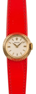 Used Rolex Cocktail Watch Red Chameleon Strap