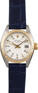 Pre Owned Ladies Rolex Date 6916 Roman Leather Strap