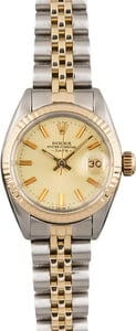 Pre Owned Rolex Date 6917 Champagne Dial
