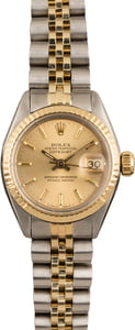 Used Rolex Date 6917 Ladies Champagne Dial