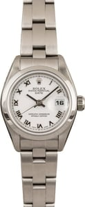 Used Ladies Rolex Date 79160 White Roman Dial