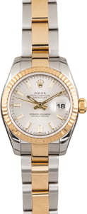 Pre Owned Ladies Rolex DateJust 179173 Silver Dial