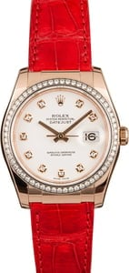 Pre Owned Rolex Datejust 116185 Diamond Bezel & Dial