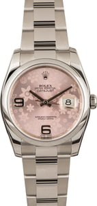 Pre Owned Rolex Datejust Pink Floral Dial 116200