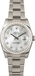 Used Rolex Datejust 116244 MOP Diamonds