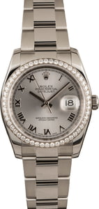 Pre Owned Rolex Datejust 116244 Diamond Bezel