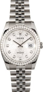 Rolex 36MM Datejust 116244 Diamond Bezel