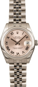Pre-Owned Rolex Datejust 178240 Pink Roman Dial