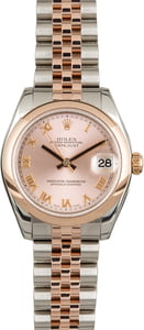 Used Rolex Mid-Size Datejust 178241 Everose Gold