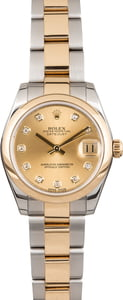 Rolex Datejust 178243 Champagne Diamond Dial