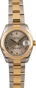 Pre-Owned Rolex Datejust 178243 Slate Roman Dial