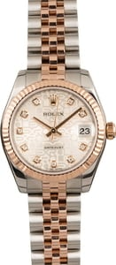 Pre Owned Ladies Rolex Datejust Watch Mid-Size 178271