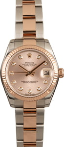 Pre-Owned Rolex Datejust 178271 Two Tone Everose Oyster