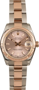 Pre-Owned Rolex Datejust 31mm 178271 Everose Gold