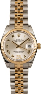 Rolex Datejust 178273 Mid-Size Silver Roman Dial