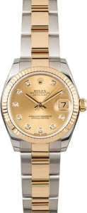 Used Mid-Size Rolex Datejust 178273 Diamond