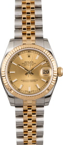 Pre Owned Rolex Datejust 178273 Luminous Index Markers