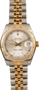 Pre-Owned Rolex Datejust 178273 Silver Luminous Dial