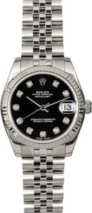 Rolex Datejust 178274 Black Diamond Dial