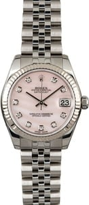 Rolex Datejust 178274 Pink Mother of Pearl with Diamonds