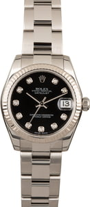 Rolex Mid-Size Datejust 178274 Black Diamond Dial