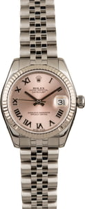 Pre Owned Rolex Ladies Datejust 178274 Pink Roman Dial