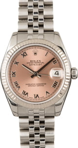 Pre-Owned Rolex Datejust 178274 Pink Roman Dial