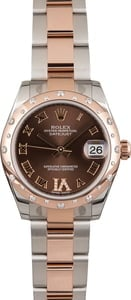 Rolex Mid-Size Datejust 178341 Chocolate Dial Diamond VI