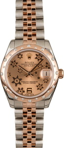 Used Rolex Datejust 178341 Bronze Floral Dial