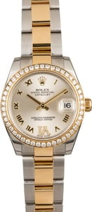 Pre Owned Rolex Datejust 31MM Ref 178383 Diamond Bezel