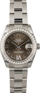 PreOwned Rolex Datejust 178384 Diamond Bezel & VI
