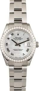Used Rolex Mid-size Datejust 178384 Diamond Bezel