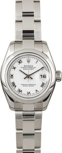 Pre-Owned Rolex Ladies Datejust 179160 White Roman